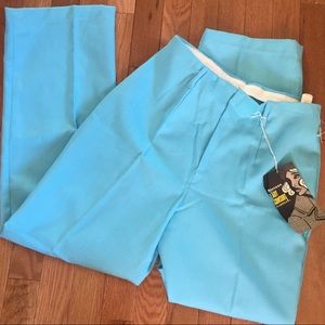 NWT Vintage 70s Robin's Egg Blue Trousers